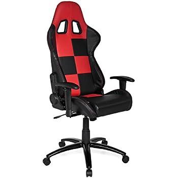 This Item Racing Office Chair Sport Seat SUZUKA Black Red