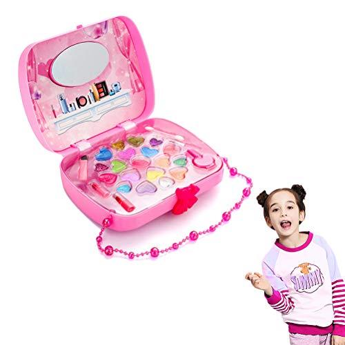 Mallalah Trousse Maquillage Filles Jouets de Maquillage Lavables Enfants Princesse Cosmetics Pretend Play Toy Make Up