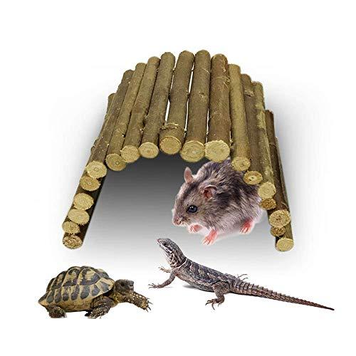 a7a439669bcdf4 kekai Reptile House Decor Bearded Dragon Vivarium Wood Plant Habitat  Supplies Accessories Toy for Lizard Hamster