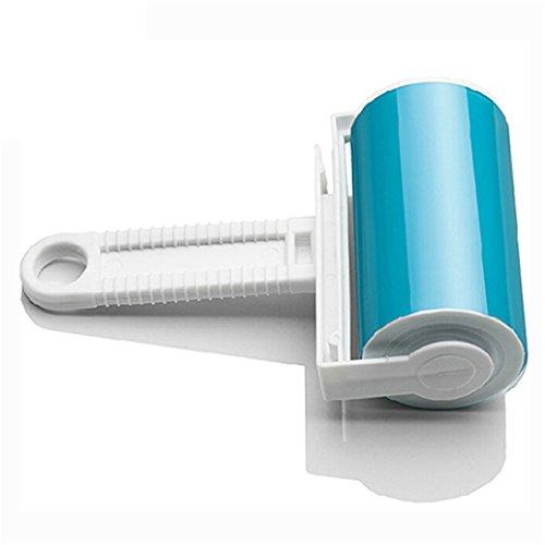 zhouba waschbar Home Tabelle Tierhaaren Staub Entferner Kleidung Reinigung Sticky Fusselroller Einheitsgröße blau