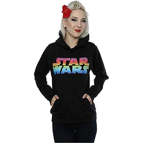 Star Wars Donna Rainbow Logo Felpa con