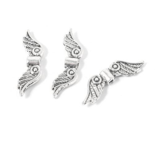 waygo 50Silber Angel Wing Spacer Metall Perlen DIY für Armbänder, Halskette 20mm