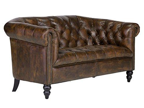 massivum Sofa Chesterfield 153x75x85 cm Echtleder braun