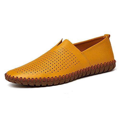YAN Herren Loafers Mokassins Leder Boot & Driving Slip auf Flache Schuhe Hochzeit beiläufige Büro im Freien & Karriere (Größe: 38-50) (Farbe : B, Größe : 47) -