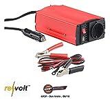 reVolt Spannungswandler 12V: Kfz-Spannungswandler 300 W, 230 V AC, 5 V USB, Peakpower 600 W (Stromwandler 12V 230v)