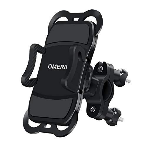Handyhalterung Fahrrad Abnehmbare OMERIL 360° Drehbare Motorrad Handyhalterung Universal für iPhone X/ Xr/ Xs/ 8/ 7/ 6 Plus, Samsung Galaxy S8/S9/S10/A5, Huawei P30/P20 und alle 3,5-6,5 Zoll Handys Touch Pro Silikon