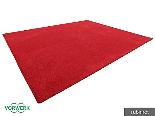HEVO Vorwerk Bijou rubinrot Teppich | Spielteppich Nicht nur für Kinder 200x250 cm