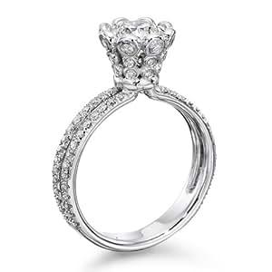 Diamant Ring 1.55 Ct W G/VS2 Round 18 Karat (750) Weißgold (Ringgröße 48-63)