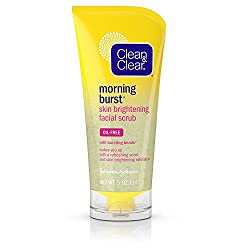 Clean & Clear Morning Burst Skin Brightening Facial Scrub For Clear Skin, 5 Oz