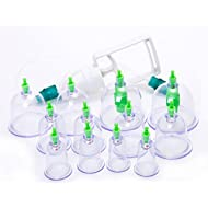 Suction cup cupping - TOOGOO (R) 12 Suction cup cupping + Medicine Gun Chinese Massage Anti-fatigue