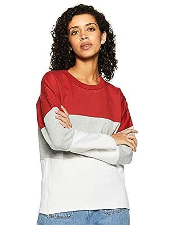 Amazon Brand - Symbol Women's Cotton Sweatshirt (AW18WNSSW27_Bossa Nova_X-Small)