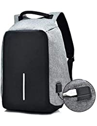 d05da759a9 Heypex ANT5 Fabric Anti-Theft Water Resistant Computer USB Charging Port  Lightweight Laptop Backpack Bag