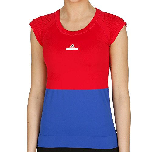 adidas by Stella McCartney Barricade Shirts e Tops, Donna, BQ3465-S, Rot, S