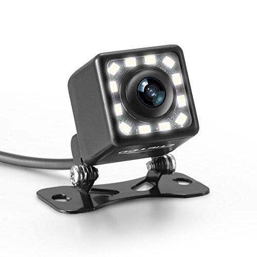 Panlelo Nachtsicht Rückfahrkamera 170° Winkel Farbkamera Einparkhilfe Rückansicht Park-Rückfahrkamera wasserdicht Auto Rückansicht Kamera Einparkkamera Backup-Kamera Einparkhilfe