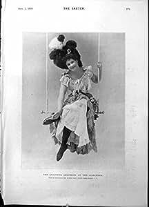 Copie Antique Charmant Madame Swing Alfred Ellis 1898 de Charmion Alhambra