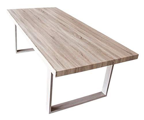 CADENTRO Table Salle à Manger en Bois avec Pieds en métal 200x100 cm (Wood)