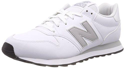 New Balance Herren 500 Sneaker, Weiß (White/Rain Cloud/White Wwg), 42 EU