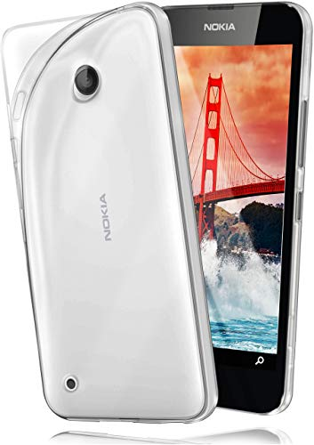 moex Nokia Lumia 530   Hülle Silikon Transparent Klar Clear Back-Cover TPU Schutzhülle Dünn Handyhülle für Nokia Lumia 530 Dual SIM Case Ultra-Slim Silikonhülle Rückseite