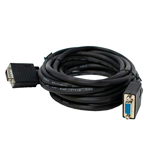 Svga-super Vga-monitor-kabel (I-CHOOSE LIMITED SVGA Monitor Verlängerungskabel Super VGA Triple Geschirmt/Männlich zu Weiblich Schwarz 3m)