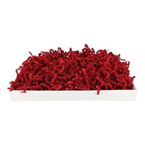 1 kg SizzlePak 024, Deep Red, dunkelrotes Füll- und Polsterpapier zum Füllen, Polstern, Ausstopfen, Dekorieren