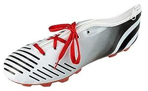 Idena 20082 - Estuche Escolar en Forma de Zapato con Cordones, Escuela, la Universidad y la Oficina, Aprox. 23 x 7,5 x 8 cm, Blanco y Negro, Multicolor