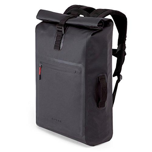 A-LAB • Model D • Wasserdichter Fahrradrucksack • Messenger Backpack • Kurierrucksack aus robuster LKW Plane (26l) mit ...