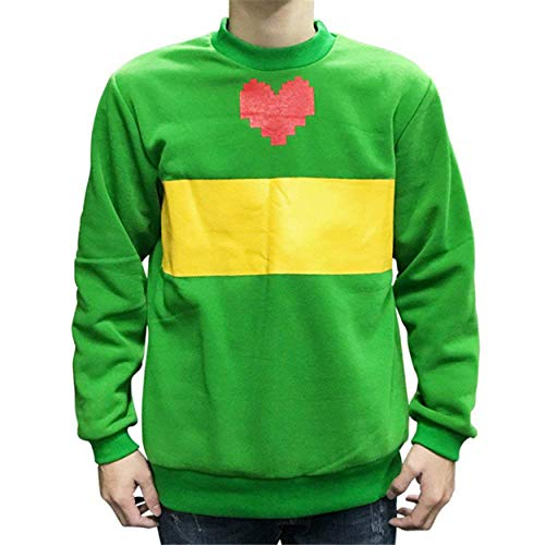 Qian Qian Blau Hoodie Jacke Sweatshirt Kapuzenpullover Cosplay Kostüm (XL, Grün) (England Cosplay Kostüm)