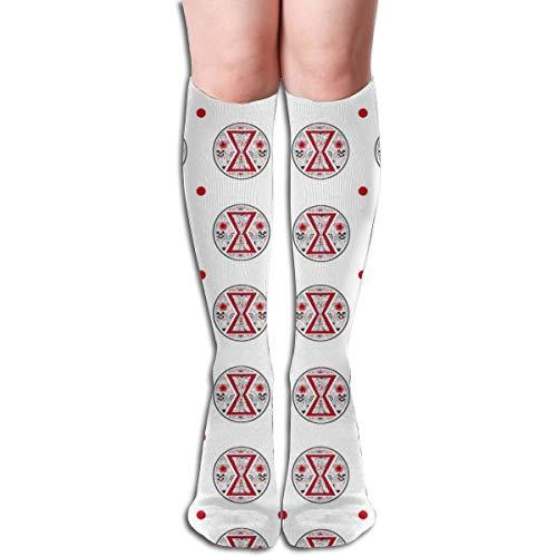 Pillowcase shop Black Widow Pattern Women Tube Knee Thigh High Stockings Cosplay Socks 50cm (19.6 inch) -