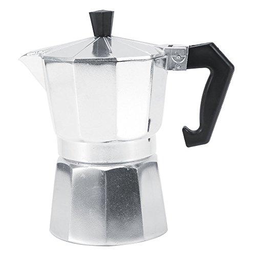 Fdit 3/6/9/12 Tassen Aluminium Italienische Mokkakanne Espressokocher Ofen Home Office Heißer Kaffee, Aluminium, 600ML 12cups -