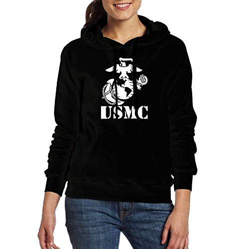 Blue-cashmere Crewneck Pullover (Clothes socks Eagle Globe Anchor USMC Marine Corps Women's Hoodie Graphic Pullover Hooded)