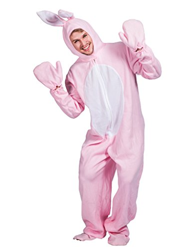 EraSpooky Ostern Rosa Kaninchen Kostüm Hasenkostüm für Erwachsene (Osterhasen Kostüm Für Erwachsene)