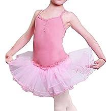 Baile de Ballet Jersey Camiseta de Niña Maillot Traje de Ballet Leotardo Princess Girls Vestido de