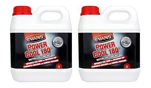 Liquide de refroidissement Evans Power Cool 180° - Pour voitures de courses - Bouteille de 2 litres