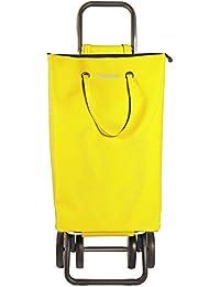 Rolser SuperBag Logic DOS+2 - Carro de compra de 4 ruedas, plegable, color amarillo