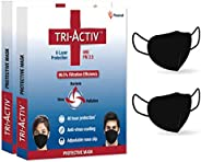 Tri-Activ 6 Layer Protective Face Masks, PM2.5 / N95 Tested as per NIOSH standard, Anti-Virus Coating, 99.5% F