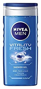 Nivea Men's Vitality Fresh Shower Gel, 250ml