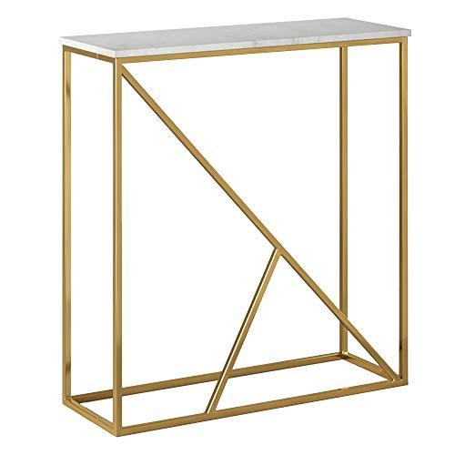 Zurück-konsole (BOOK CASE DD- Sofa Beistelltisch/Long Entrance Tisch Marmor Tischplatte Konsole/Sofa Zurück)