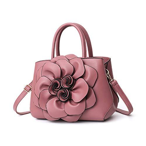 Gxinyanlong Frauen Persönlichkeit Mode Blume Handtasche Schulter diagonal packagePink