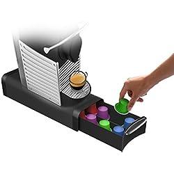 Mind Reader Slim' für 16 Nespresso Kapseln, 12 K-Cups, 14 CBTL/Verismo Pods, Black Kaffee Pod Storage Schublade