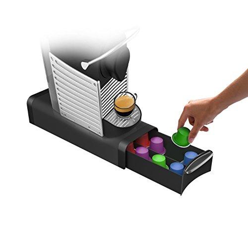 Mind Reader \'Slim\' para 16Cápsulas Nespresso, 12K-Cups, 14cbtl/verismo Pods, Black Café Pod Storage cajón