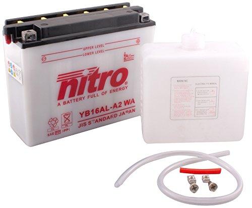 NITRO YB16AL A2-N- WA-Batteria Moto aperto con acido Pack