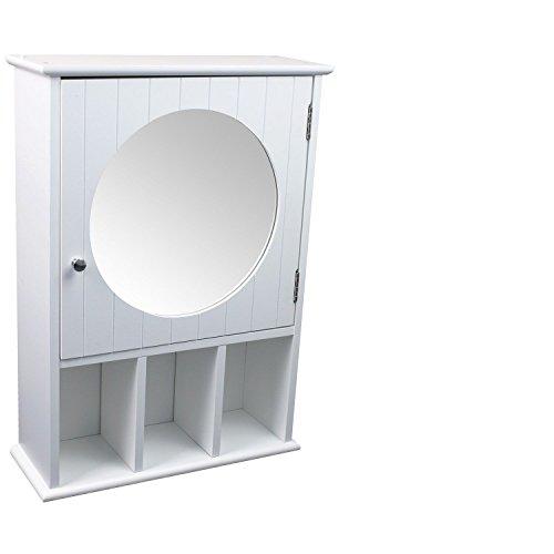 Habeig Spiegelschrank Wandschrank Badschrank Badezimmerschrank Hängeschrank weiß 40 x 56 x 15 cm (B x H x T)