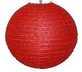 AAF Nommel ® 200, Lampion 1 Stk. Papier rot japanisch rund gelöchert. Durchmesser 40 cm