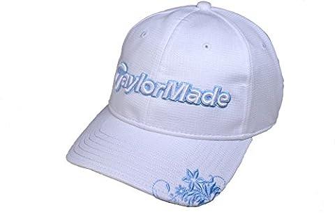 TaylorMade Golf Cap weiß/hellblau sonnenhut sport-sonnenblende golf-basecap golf-baseball-schirmmütze golf-stirnband kappe damen käpps schirm-mützen sonnenhut damen callaway nike titleist billig