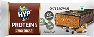 Hyp Lean Sugarfree Protein Bar, Oats Brownie (Pack of 6)