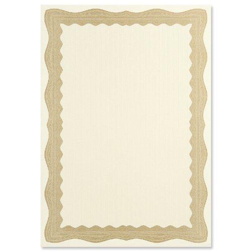 Gold- oder Bronze-Urkunden, blanko, A4, Querformat oder Hochformat, cremefarben Gold Bronze