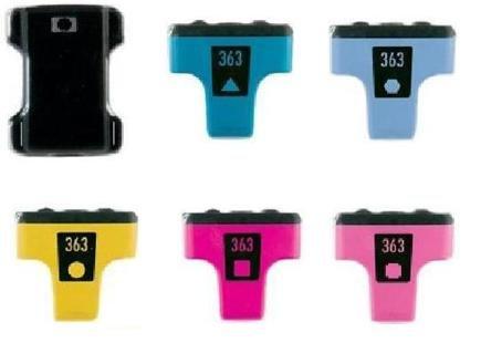 6 x XL kompatible Patronen für HP Photosmart-Drucker 3310 C5180 D6160 7180 C5100 C5140 C5150 C5160 C5170 C5173 C5175 C5180 C5183 C5185 C5188 C5190 C5194 C6150 C6154 C6160 C6170 C6175 zu HP-363