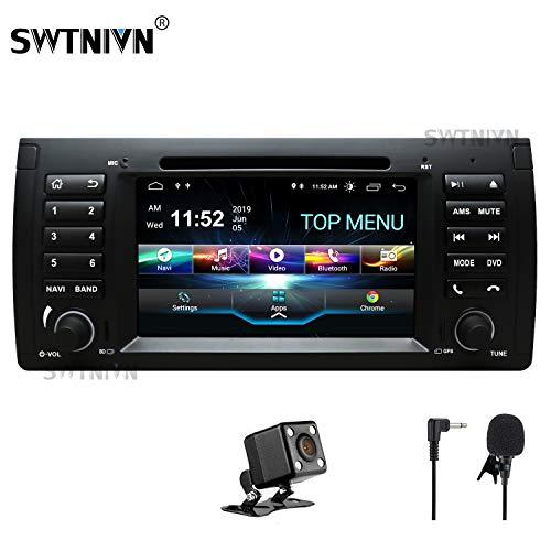 SWTNVIN Android 10.0 Auto Audio Stereo Kopfeinheit passt für BMW E39 DVD Player Radio 7 Zoll HD Touchscreen GPS Navigation mit Bluetooth WiFi Lenkradsteuerung 2GB + 32GB