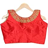 Miru Fashion Phantam Silk Fabric Jari And Coding Work With Hand Work Blouses (Size 38) (Sleeves Attached Inside…