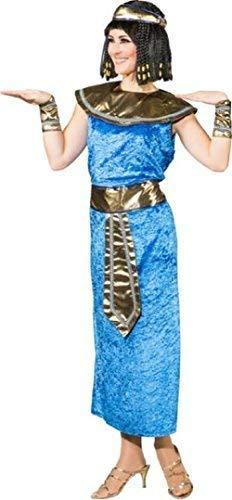 Fancy Me Damen Blau Kleopatra Ägypten Historisch aus Aller Welt Kostüm Kleid Outfit - Blau, UK 12 (EU 40) (Kostüme Aus Aller Welt)